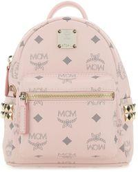 MCM Printed Canvas Stark Bebe Boo Backpack Nd  uomo - Pink
