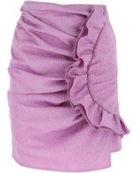 MSGM Lilac Polyester Blend Skirt Donna - Purple