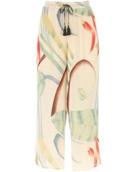 Etro Printed Polyester Culotte Pant - Multicolor