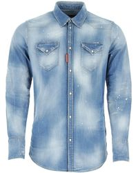 DSquared² Stretch Denim Shirt - Blue