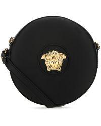 Versace Leather La Medusa Crossbody Bag Donna - Black