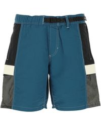 Vans Multicolour Nylon Bermuda Shorts Nd Uomo - Blue