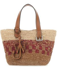 JW Anderson Multicolor Raffia Mini Belt Shopping Bag
