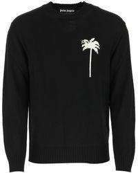Palm Angels Black Wool Sweater