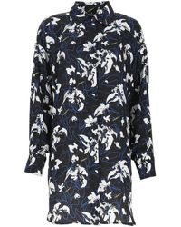 Marcelo Burlon - Printed Polyester Oversize Shirt Nd Donna - Lyst