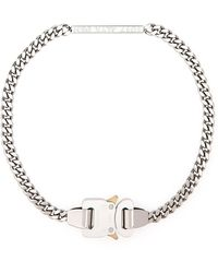 1017 ALYX 9SM Silver Metal Necklace - Metallic