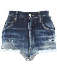 DSquared² Stretch Denim Shorts Nd - Blue