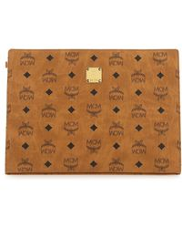 MCM Printed Canvas Clutch Nd Uomo - Brown