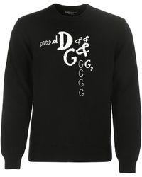 Dolce & Gabbana Wool Blend Sweater Uomo - Black