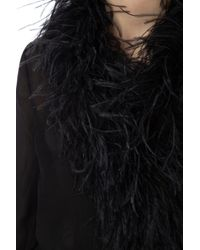 Prada black Chiffon Robe