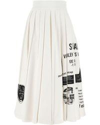Prada White Cotton Skirt