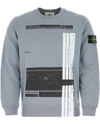 Stone Island Cotton Sweatshirt Uomo - Grey