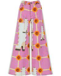 Loewe Multicolour Denim Jeans