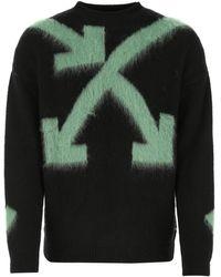 Off-White c/o Virgil Abloh Wool Blend Sweater - Black