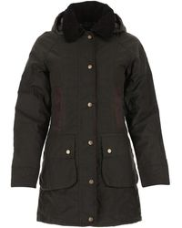 Barbour Dark Brown Cotton Bower Padded Jacket Nd