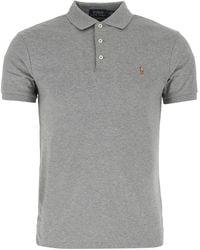Polo Ralph Lauren Grey Cotton Polo Shirt Nd Uomo