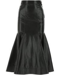 Loewe Leather Skirt 34f - Black