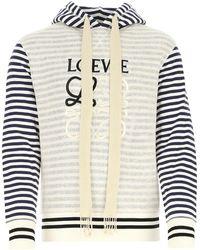 Loewe Embroidered Cotton Sweatshirt Uomo - Multicolor