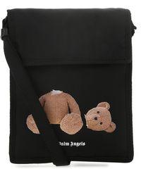 Palm Angels Black Nylon Crossbody Bag Nd Uomo