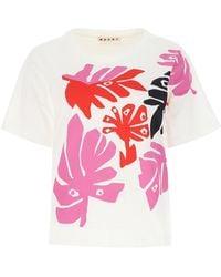 Marni White Cotton T-shirt Nd Donna - Multicolor