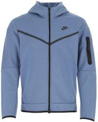 Nike Air Force Blue Cotton Blend Sweatshirt Nd Uomo