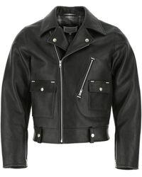 Maison Margiela Leather Jacket Uomo - Black