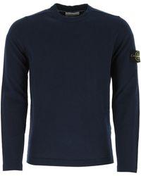 Stone Island Blue Cotton T-shirt Nd Uomo