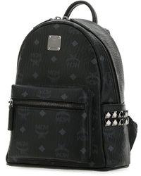 MCM Printed Canvas 27 Stark Side Studs Backpack Nd  uomo - Black