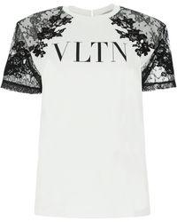 Valentino White Cotton T-shirt Nd
