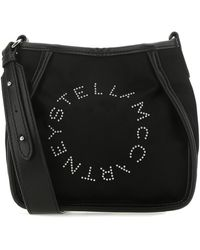 Stella McCartney Econylon Mini Stella Logo Crossbody Bag Donna - Black