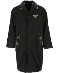 Prada Black Nylon Raincoat Nd Uomo