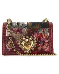 Dolce & Gabbana - Multicolor Fabric And Snakeskin Devotion Shoulder Bag Donna - Lyst