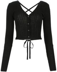 Miu Miu Wool Top - Black