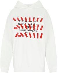Maison Margiela Cotton Oversize Sweatshirt Donna - White