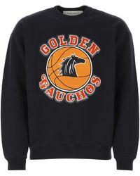 Golden Goose Midnight Blue Cotton Sweatshirt Nd Uomo