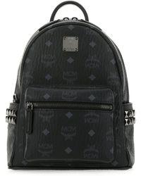 MCM Printed Canvas 27 Stark Side Studs Backpack Nd |uomo - Black