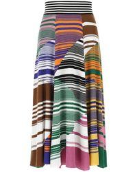 Missoni Multicolor Cotton Blend Skirt Donna