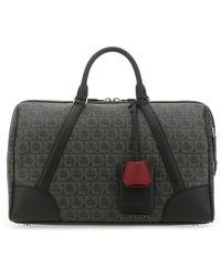 Ferragamo Fabric Travel Bag - Black