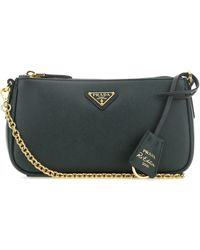 Prada Bottle Green Leather Re-edition 2000 Shoulder Bag Nd