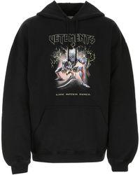 Vetements Cotton Blend Oversize Sweatshirt Uomo - Black