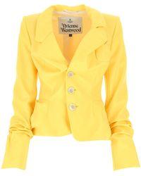 Vivienne Westwood Yellow Wool Blazer Nd Donna