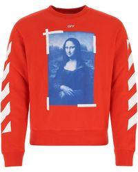 Off-White c/o Virgil Abloh Cotton Sweatshirt - Red