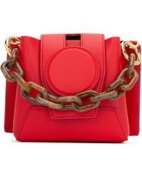 Yuzefi Red Leather Daria Handbag Nd Donna