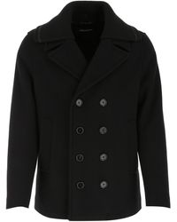 Dolce & Gabbana Wool Blend Coat Uomo - Black