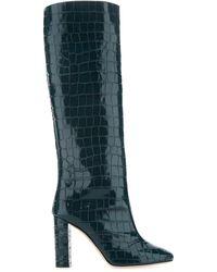 Sebastian Petroleum Leather Fall Boots 36 - Green