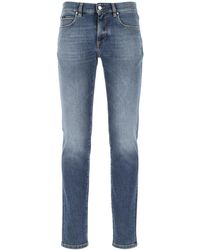 Z Zegna Stretch Denim Jeans Uomo - Blue