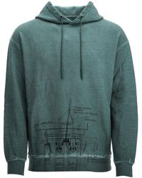 A_COLD_WALL* Teal Green Cotton Sweatshirt Nd Uomo