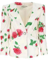 Alessandra Rich Printed Viscose Blazer Donna - Multicolour
