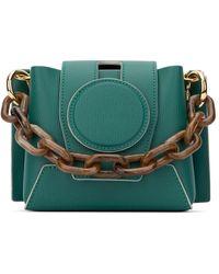 Yuzefi Dark Green Leather Daria Handbag Nd Donna