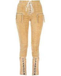 Unravel Project Camel Suede Pant Nd Donna - Natural